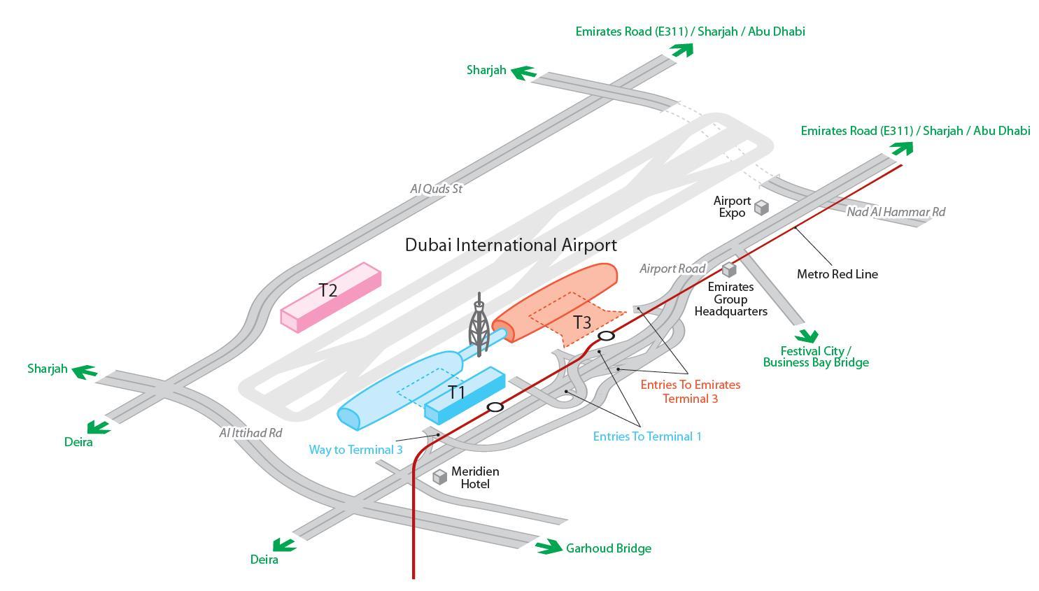 Дубай 3 терминал схема